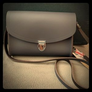 NEW The Cambridge Satchel Company Gray Leather Bag